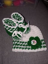 New ... 0/3 months crochet hat & booties in Fort Hood, Texas