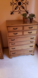 Bedroom chest and twin headboard and frame in Joliet, Illinois