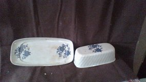Royal Blue ironston wedgewood co. Butter dish in Fort Campbell, Kentucky