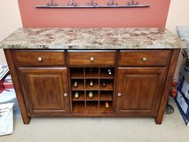 Buffet Table with Marble top and Wine Rack in Naperville, Illinois