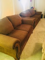 2set of brown big couch in Fort Leonard Wood, Missouri