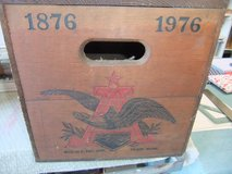 Vintage BUDWEISER Anheuser Busch Since 1876-1976 Wood Box Crate Hinged -  (New Bern) in Cherry Point, North Carolina