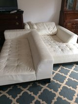 Leather couch - 2 pieces in Stuttgart, GE