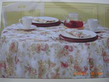 "NEW Table Cloth FRUIT ORCHARD Microfiber 60"" x 102"" Oblong NIP in Alamogordo, New Mexico"