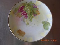 "Decorative 6 1/4"" Plate M Z Austria Hand Painted Grapes Green & Purple in Alamogordo, New Mexico"