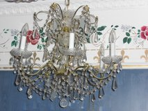 Schonbek Chic 24k Gold Brass Lead Crystal Chandelier in Alamogordo, New Mexico