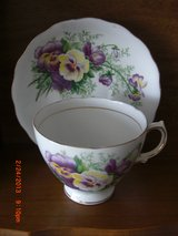 Pansies Cup And Saucer Royal Vale in Alamogordo, New Mexico