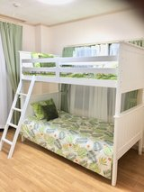 Bunkbed with cushions in Okinawa, Japan