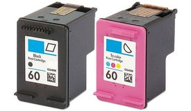 Hewlett Packard/Compatible 60 Black and Color Ink Cartridges. Used in Fort Lewis, Washington