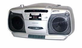 Emerson PD6609 Portable CD Cassette Boombox in Fort Lewis, Washington
