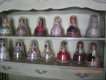Set Of 12 Vintage Plastic Dolls Around The World - In Clear Plastic Bell Domes in Alamogordo, New Mexico