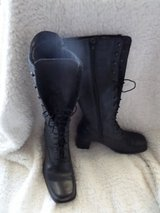 Tall Women's Lace-up and Zipper Leather Boots Fabrique Au Canada in Alamogordo, New Mexico