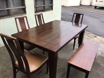 Solid Wood Table & Chairs in Okinawa, Japan