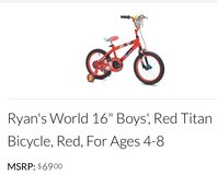 """For Sale: Ryan's World 16"""" Boys Bicycle - Brand New in Leesville, Louisiana"""