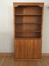 Oak bookcase with doors in Algonquin, Illinois