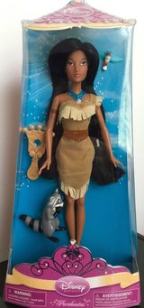 New! Disney Princess & Friends Pocahontas Doll w/ Flit Meeko in Orland Park, Illinois