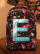 Justice Letter E Backpack in Glendale Heights, Illinois