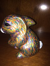 "hand painted clay bunny, one of a kind, signed (6"") in Warner Robins, Georgia"