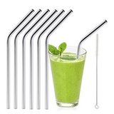 Stainless Steel Drinking Straws Set of 6 with cleaning brush in Camp Lejeune, North Carolina