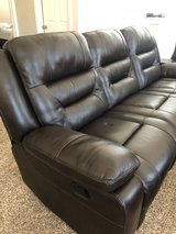 FRIDAY MOVING SALE! Couch with Reclining Ends in Kingwood, Texas