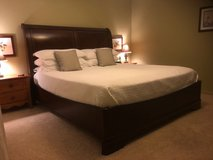 King Size Bed w/Frame in Kingwood, Texas