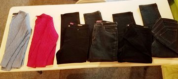 Womens Jean's all 16P (petite) and XL sweaters in Lockport, Illinois