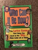 Who Can It Be Now? 80's Lyrics Game in Beaufort, South Carolina