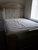 king size marble bed set with both matching nightstands in Camp Lejeune, North Carolina