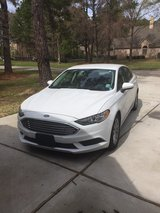 2017 Ford Fusion white  For Sale in The Woodlands, Texas