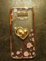 Glitter crystal heart floral Galaxy S8 in Fort Riley, Kansas