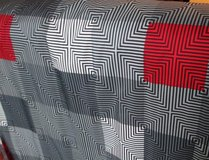 Minecraft Teen Curtains America Bordered Geometric Red, Black Gray in Fort Campbell, Kentucky