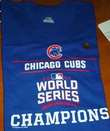 New Official Chicago Cubs 2016 World Series Champions Tee Shirt Men's XLarge in Bolingbrook, Illinois
