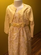 Yellow Easter/formal dress with matching jacket sz5 girls in Chicago, Illinois