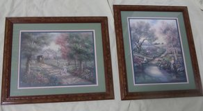 Amish Home Interior Signed Artwork Pair in Kingwood, Texas