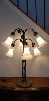 Dale Tiffany Lily 6 Light Table Lamp in Antique Brass in Bolingbrook, Illinois