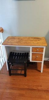small desk with stool in Fort Campbell, Kentucky