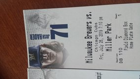 Chicago Cubs at Milwaukee Brewers 2 aisle tickets Fri night 7/26 Row 5 in Lockport, Illinois