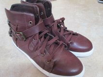 Red Leather Sneakers in Alamogordo, New Mexico
