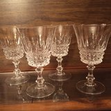 4 Crystal Wine Glasses in Eglin AFB, Florida