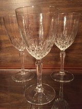 3 Crystal Wine Glasses in Eglin AFB, Florida