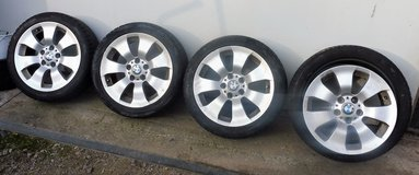 4 Original BMW Rims with 3 Tires in Ramstein, Germany