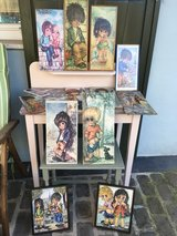 lovely french vintage art - big eyes in Ramstein, Germany