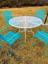 antique heavy wrought iron patio set in Camp Lejeune, North Carolina