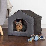 Small Gray Polyester Cozy Cottage House Shaped Pet Bed in Aurora, Illinois
