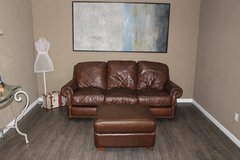 Leather Sofa and Ottoman in Kingwood, Texas