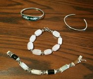 4 Vintage Sterling Silver Bracelets in Camp Lejeune, North Carolina