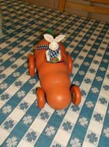 Bunny in carrot car decor in Wheaton, Illinois
