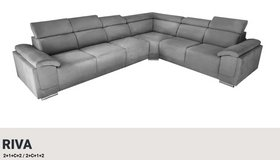 United Furniture - Riva Sectional (2+1+c+2) in many colors and materials including delivery in Stuttgart, GE
