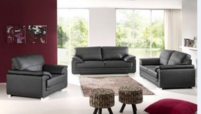 United Furniture - Vitto Sofa + Loveseat + Chair in Solid or Two-Tone including delivery in Spangdahlem, Germany