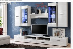 United Furniture - Lauren Wall Unit with LED lights including delivery in Grafenwoehr, GE